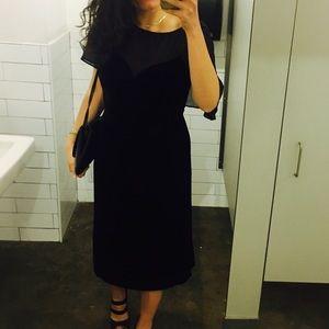 The Kooples Velvet and Mesh midi dress